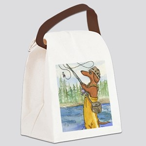 flyfishing8x10 Canvas Lunch Bag