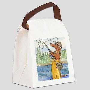 flyfishing8x10 Canvas Lunch Bag