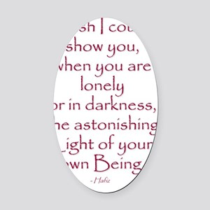 hafiz-quote Oval Car Magnet