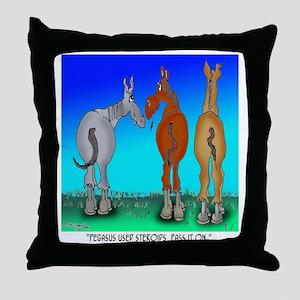 5099_horse_cartoon Throw Pillow