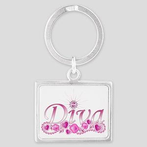Diva Bling Landscape Keychain
