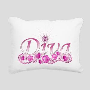 Diva Bling Rectangular Canvas Pillow