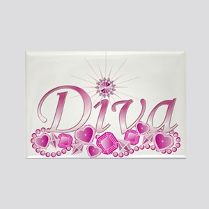 Diva Bling Rectangle Magnet