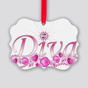Diva Bling Picture Ornament