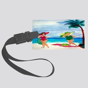 Beach Babes Large Luggage Tag