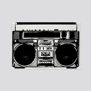 boomboxWHITE Rectangle Magnet