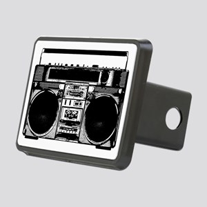 boomboxWHITE Rectangular Hitch Cover