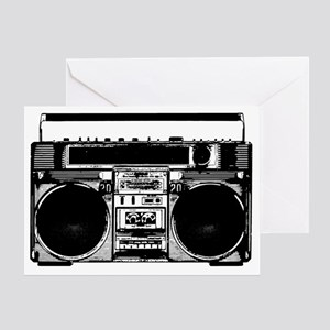 boomboxWHITE Greeting Card