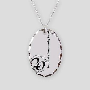 Note Bold Necklace Oval Charm