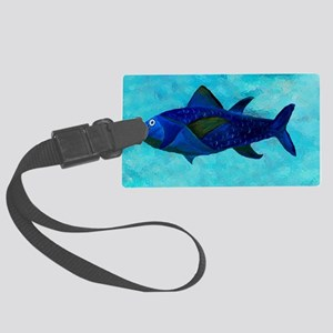 Lady Fish Large Luggage Tag