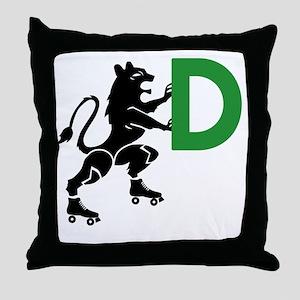 BLACK_DDD_LIONESS Throw Pillow