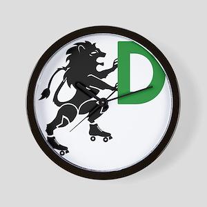 BLACK_DDD_LION Wall Clock