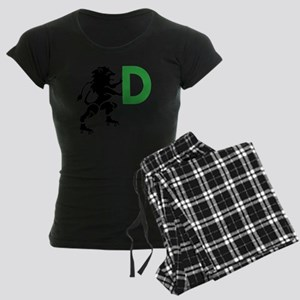 BLACK_DDD_LION Women's Dark Pajamas