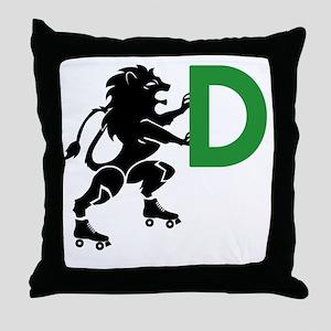 BLACK_DDD_LION Throw Pillow