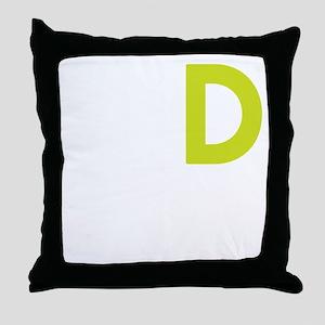 WHITE_DDD_LION Throw Pillow