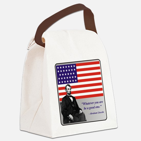 LincolnFlag9 Canvas Lunch Bag