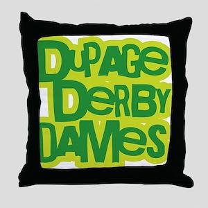 GREEN_DDD_Textlogo Throw Pillow