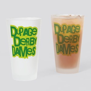 GREEN_DDD_Textlogo Drinking Glass