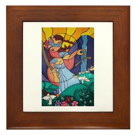 Lady Justice Framed Tile