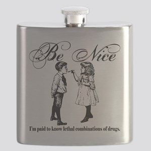 Be-Nice-blackonwhite Flask