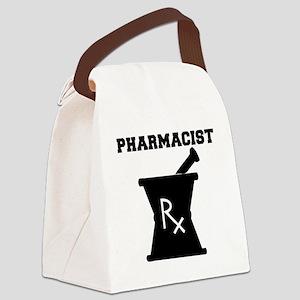 Pharmacist-4-blackonwhite Canvas Lunch Bag