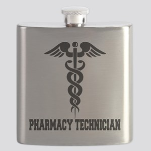 Pharmacy-Technician-1---blackonwhite Flask