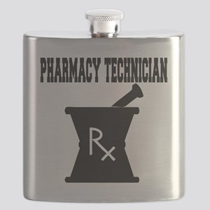Pharmacy-Technician-3--blackonwhite Flask