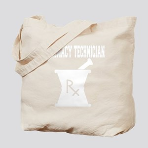 Pharmacy-Technician-3---whiteonblack Tote Bag