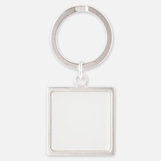 Pharmacy-Technician-3---whiteonbla Square Keychain