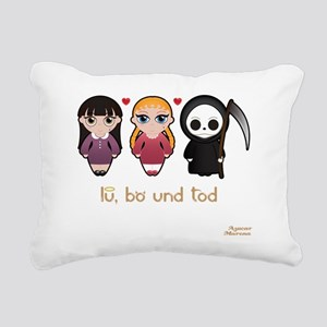 lu bo tod pj Black Rectangular Canvas Pillow