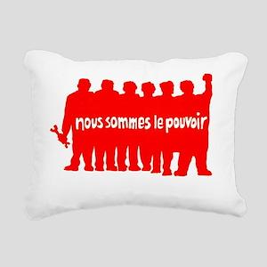 ART Paris 68 pouvoir Rectangular Canvas Pillow