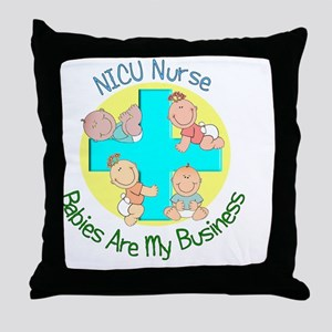 NICU Nurse Throw Pillow