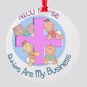 NICU Nurse 2012 4 babies Round Ornament