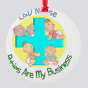 LD Nurse Round Ornament