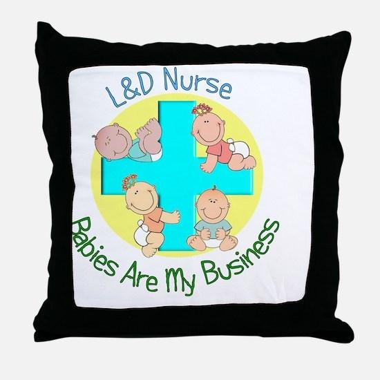 LD Nurse Throw Pillow