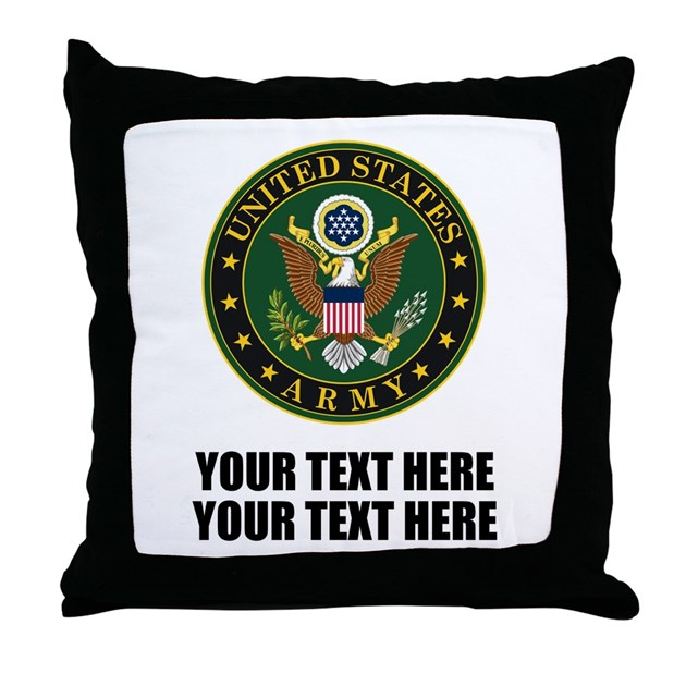 Us Army Symbol Throw Pillow By Designsanddesigns