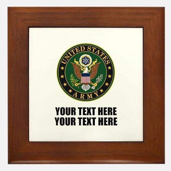 US Army Symbol Framed Tile