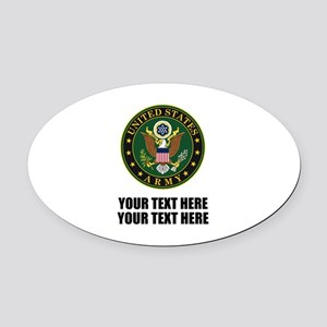 US Army Symbol Oval Car Magnet