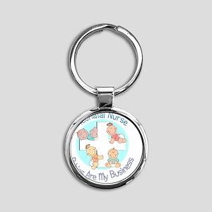 Neonatal Nurse Round Keychain
