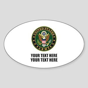 US Army Symbol Sticker (Oval)