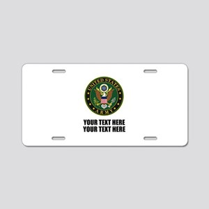 US Army Symbol Aluminum License Plate