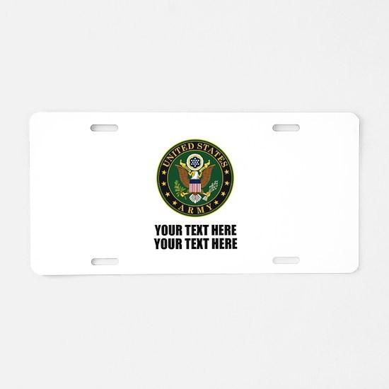 US Army Symbol Aluminum License Plate