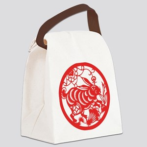 ChineseZodiacRabbitB Canvas Lunch Bag