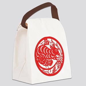 ChineseZodiacRatB Canvas Lunch Bag