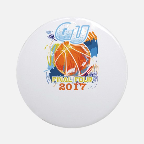 GU Final Four 2017 Basketball Round Ornament