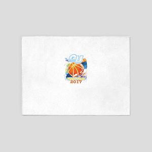 GU Final Four 2017 Basketball 5'x7'Area Rug