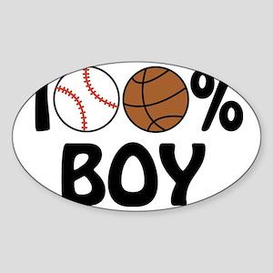 100% Boy Sticker (Oval)