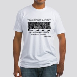 Mushed Your Huskies Poem Fitted T-Shirt