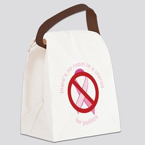 Pro_Choice_RoundPinkBLK Canvas Lunch Bag