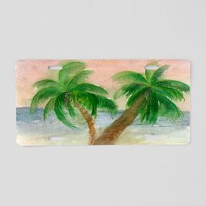 Twin Palms Aluminum License Plate